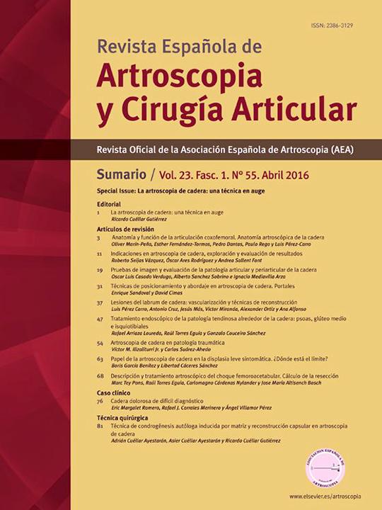 Portada REACA Vol. 23. Fasc. 1. Núm. 55. Abril 2016